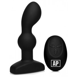 Alpha-Pro 7X P-SPIN Vibrating Prostate Stimulator with Spinning Beads Black