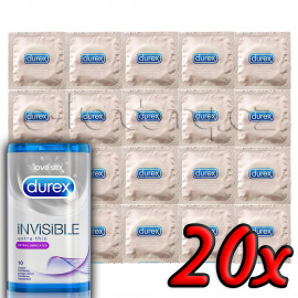 Durex Invisible Extra Lubricated 20 pack