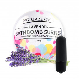 Big Teaze Toys Bath Bomb Surprise with Vibrating Body Massager Lavender
