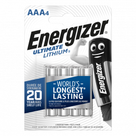 Energizer Ultimate LITHIUM Battery AAA 4 pack