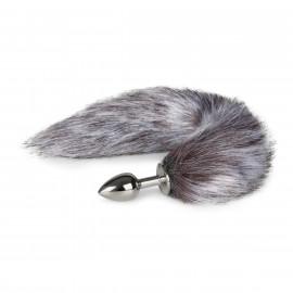 Easytoys Fox Tail Plug No. 5 Silver - Silver Fox Tail