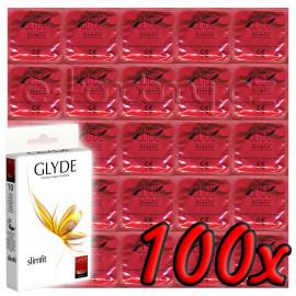 Glyde Slimfit - Premium Vegan Condoms 100 pack