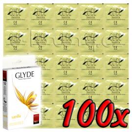 Glyde Vanilla - Premium Vegan Condoms 100 pack