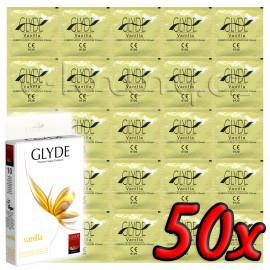 Glyde Vanilla - Premium Vegan Condoms 50 pack