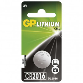 Battery Lithium Button GP CR2016 1 pc