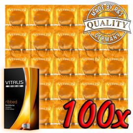 Vitalis Premium Ribbed 100 pack
