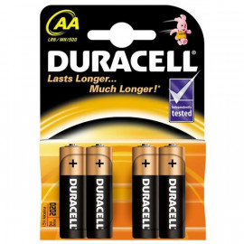 Battery Alkaline Duracell AA 4 pack