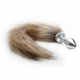 Ouch! Fox Tail Buttplug Silver - Anal Pin with a Silver Tail Liscio