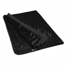 Liberator Fascinator Throw Velvish Black - Luxury Bed Bedspread Black Prez