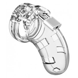 Shots ManCage Chastity Cock Cage 3.5 Inch Model 01 Transparent