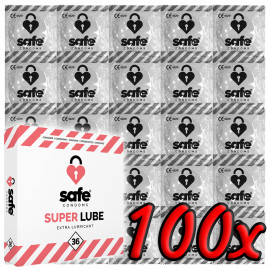 Safe Super Lube Condoms Extra Lubricant 100 pack