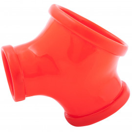 Toylie Latex Sleeve with Penis and Testicle Ring Gil Red
