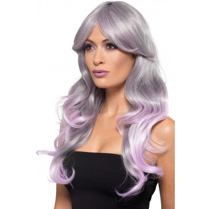 Fever Fashion Ombre Wig Wavy Long Grey & Pastel 48905