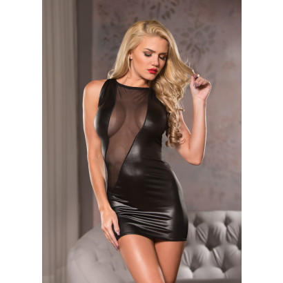 Allure Cut A Way Mini Dress Black