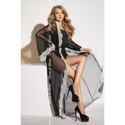 Me Seduce Ardea Long Robe Black