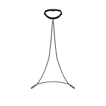 Petitenoir Long Choker Black 2718