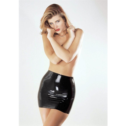 Sharon Sloane Latex Mini Skirt - Latex Mini Skirt Black