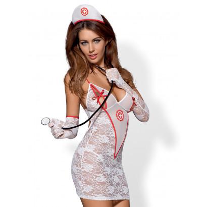 Obsessive Medica Dress 5 pcs Costume White