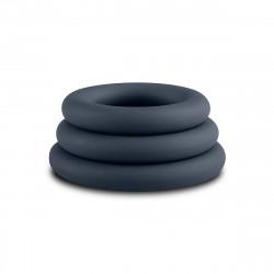 Boners 3-Piece Cock Ring Set Grey