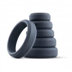 Boners 6-Piece Cock Ring Set Grey