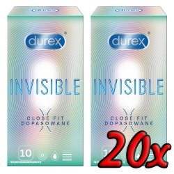 Durex Invisible Close Fit 20 pack