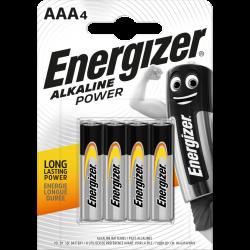 Energizer Alkaline Power Battery AAA 4 pack