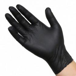 Rimba Black Ninja Latex Disposable Gloves