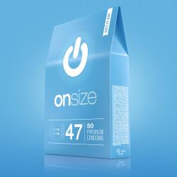 Onsize 47 Premium Condoms 50 pack