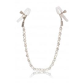 California Exotics Crystal Chain Nipple Clamps Silver