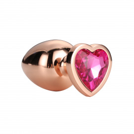 Dream Toys Gleaming Love Plug Rose Gold Small