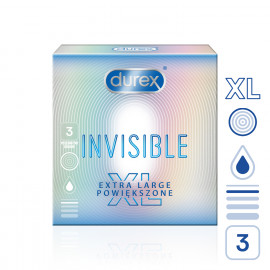 Durex Invisible XL 3 pack