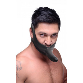 Master Series Face Fuck Strap On Mouth Gag Black