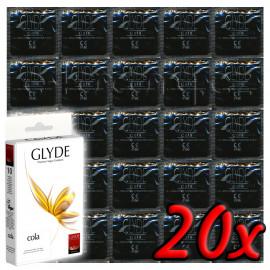 Glyde Cola - Premium Vegan Condoms 20 pack