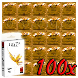 Glyde Super Max - Premium Vegan Condoms 100 pack