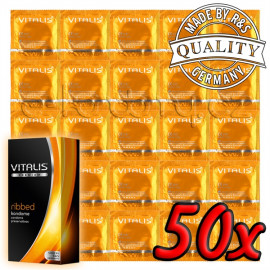 Vitalis Premium Ribbed 50 pack