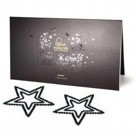 Bijoux Indiscrets Mimi Star Black - Ornaments For Nipples
