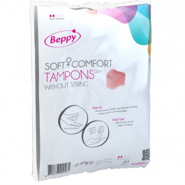 Beppy Soft+Comfort Tampons DRY - Foam Tampons without Laces 30pcs