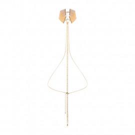 Bijoux Indiscrets Magnifique Collar Gold - Gold Metal Decorative Collar