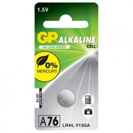 Battery Alkaline Button GP LR44 1.5V 1 pc