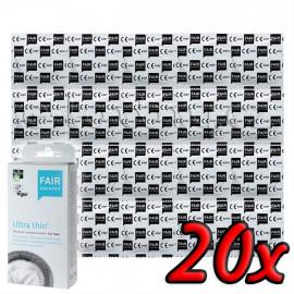 Fair Squared Ultra Thin - Fair Trade Vegan Condoms 20 pack
