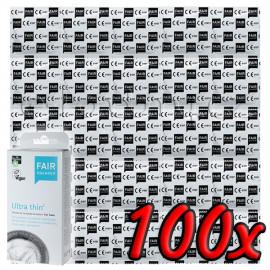 Fair Squared Ultra Thin - Fair Trade Vegan Condoms 100 pack