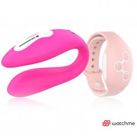 WearWatch Dual Pleasure Watchme Wireless Technology Fuchsia-Coral