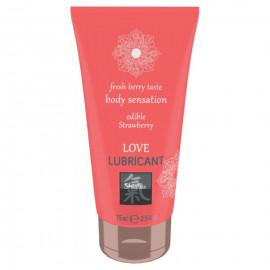 Shiatsu Love Lubricant Edible Strawberry 75ml