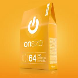 Onsize 64 Premium Condoms 50 pack