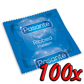 Pasante Ribbed Passion 100 pack