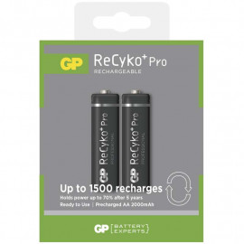 Battery Charging GP ReCyko+ Pro AA 2000mAh 2 pack