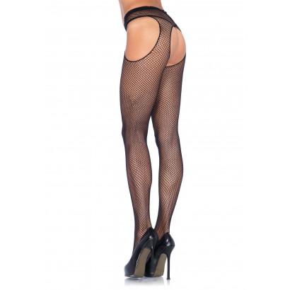 Leg Avenue Fishnet Suspender Pantyhose 1402 Black
