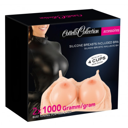 Cottelli Silicone Breasts included Bra 2x1000g