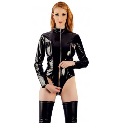 Black Level Vinyl Body with Long Sleeves