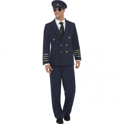 Fever Pilot Costume Navy Blue 28621